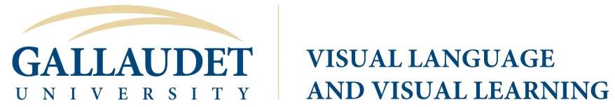Logo: Gallaudet University - Visual Language and Visual Learning